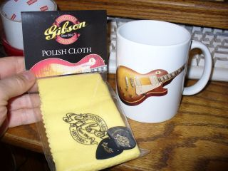 GIFT IDEA Gibson Custom Shop Pack Les Paul PAF coffee mug cup