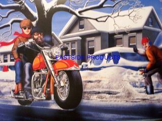 37 POSTER DAVID MANN SNOW JOB EASYRIDERS DAVE MANN BOOK MOTORCYCLE