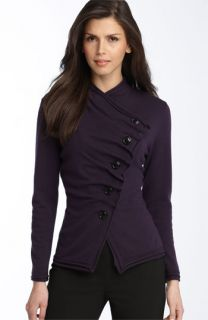 Lafayette 148 New York Asymmetrical Merino Wool Cardigan