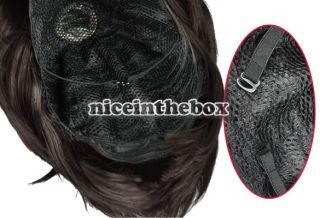 Dark Brown Cosplay Party Fancy Dress Short Straight BOB Hair Wig N98B