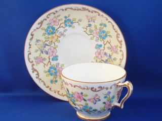 Crown Staffordshire fine bone china, cup and saucer, England