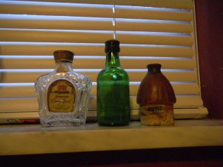 Vintage Liquor Bottles Crown Royal Hutique Harveys