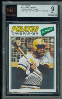 1977 Topps 270 Dave Parker Unissued Proof BGS 8 5 9 Solo Finest Pair