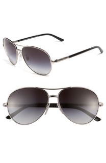 Burberry Special Fit Metal Aviator Sunglasses