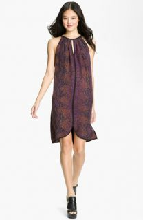 Rebecca Taylor Python Print Silk Halter Dress