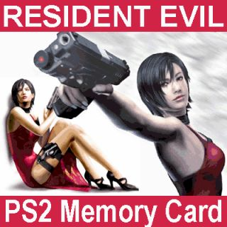 Resident Evil 4 Code Veronica x Game Saves New PS2 Card