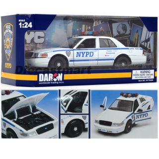 Daron 1 24 NY76469 Ford Crown Victoria New York NYPD Diecast Police