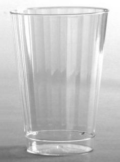 Tall Glasses Plastic Crystal Cut 12oz 20 per PK 7700