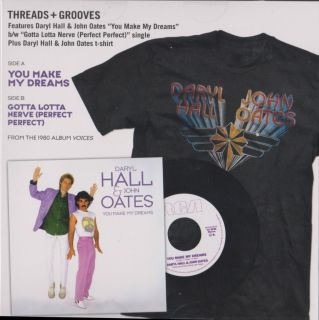 Daryl Hall John Oates You Make My Dreams Rare 45 box set with T Shirt
