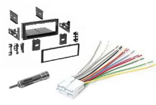 Stereo Radio Install Mount Trim Dash Kit Wire Harness