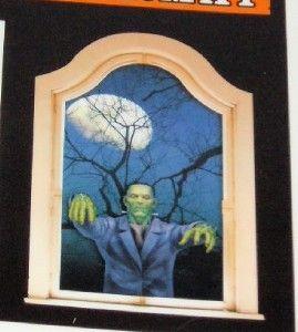 5pc Halloween Window Cling Frankenstien Bats New