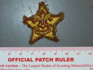 Boy Scout Star Rank Badge Type 1 Teens Era 7737Z
