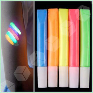 Pintura Fluorescente Luminiscente Neón Cuerpo Fácil Limpieza