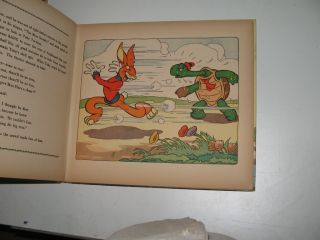 TORTOISE & HARE Disney 1935 comic cartoon book Whitman,Silly Symphony
