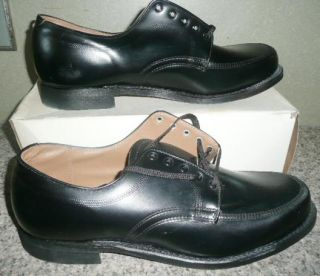 Vtg Black Men Herman Work Casual Boots Shoes New Old 13