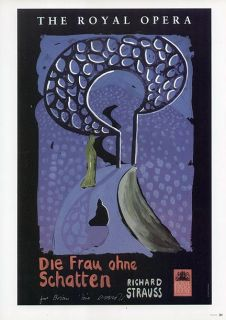 David Hockney Poster Print Richard Strauss Opera Die Frau Ohne
