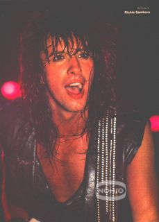 Richie Sambora Pinup Bon Jovi Guitar 80s Hair Metal