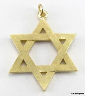 STAR DAVID CHARM   Jewish Hebrew 14k GOLD PENDANT