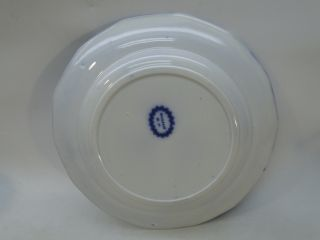 Antique Flow Blue Plate Daliah Pattern Edward Challinor Ironstone 1850