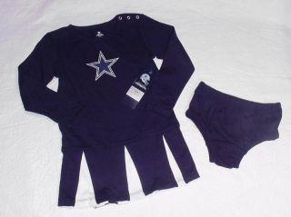 Dallas Cowboy Cheerleader Outfit Dress Halloween Costume Sz Toddler