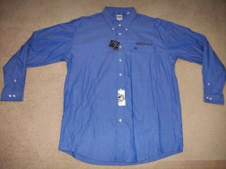 NEW Mens Cinch Blue Button Front Long Sleeve Rodeo Western Shirt, XXL
