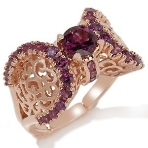 14Kt Rose Gold Dallas Prince Designs 2 13ct Rhodolite Ring Size 8