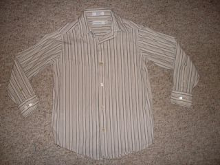 Calvin Klein Cotton Button Up Dress Shirt Boys 8 S