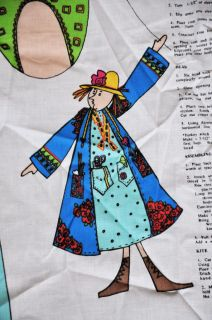 Daisy Kingdom Fabric Panel Fedora Rag Doll Kite Elinor Peace Bailey