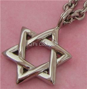 Star of David Stainless Steel Pendant Chain Necklace