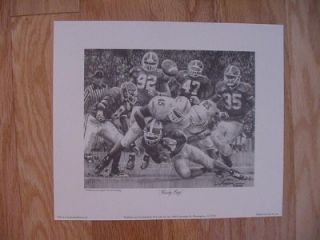 Alabama Crimson Tide Rocky Pencil Sketch Daniel Moore