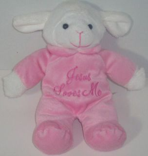 This is for a Dan Dee White Lamb in Pink Outfit lovey plush   sings