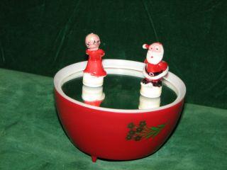 Musical Dancing Santa Mrs Box Plastic Magnet Santa Claus is Coming to