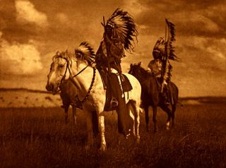 Sioux Chiefs Edward Curtis Native American Art Photo