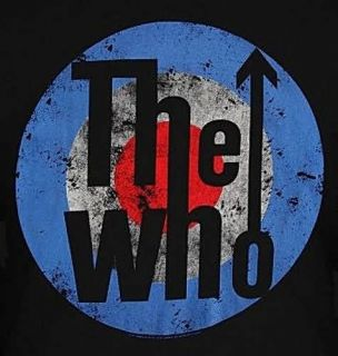 The Who Logo Roger Daltrey Pete Townshend Keith Moon Punk Rock T Shirt
