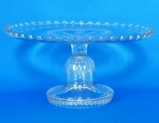 Antique EAPG Dalzell Glass Cake Stand / Plate in Delos Pattern