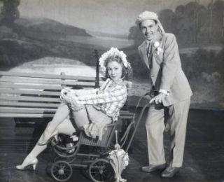 MITZI GAYNOR ORIG STILL CHEESECAKE IN BABY CARRIAGE W/DAVID WAYNE