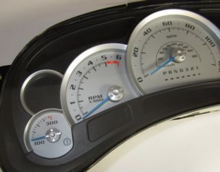 Chevy Silverado Speedometer Custom Silver Blue Needle