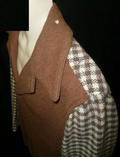 Orig Vtg 30s 40s Swing Retro Ricky Lucy 2 Tone Wool Sport Jacket Coat