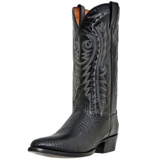 Dan Post Raleigh Teju Lizard R Toe Exotic Cowboy Boot Black DP2350R