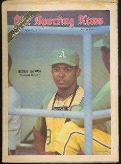 SPORTING NEWS Oakland As Reggie Jackson Dan Reeves 4/17 1971