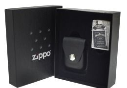 Zippo 24707 Jack Daniel High Polish Chrome with Pouch Gift Set Lighter