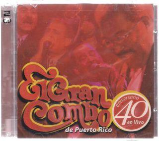 GRAN COMBO DE PUERTO RICO 40 aniversario 2cd Gilberto Santarosa RARE
