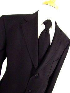black DANIEL CREMIEUX jacket blazer sport coat wool 3btn sz LARGE 44 R
