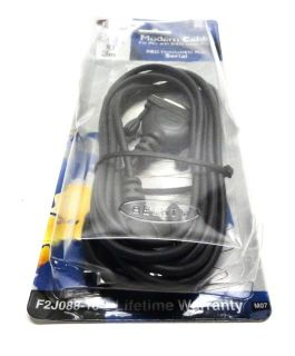 F2J088 10 Modem Cables DB25 Female DB25 Male PC Serial 28AWG