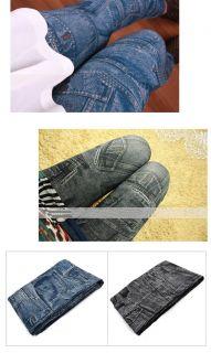 Rock Sexy Faux Jean Jegging Legging Denim Look Slim Tight Pants FZ544