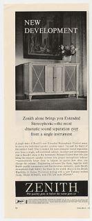 1959 Zenith Rigoletto Model SFD2575 Stereo Console Ad