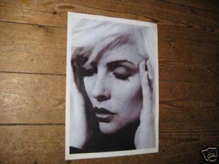 Debbie Harry Blondie Awsome BW Poster Tragic Pose