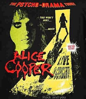 Alice Cooper Psycho  Drama Tour heavy metal shock rock T Shirt L XL