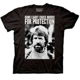 product name guns carry chuck norris for protection men t shirt