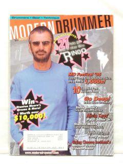 Modern Drummer Magazine Ringo Starr Danny Carey Alicia Keys Tony Allen